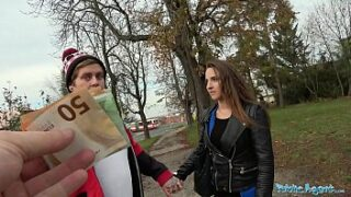 Public Agent Amirah Adara Fucks a stranger while her BF waits